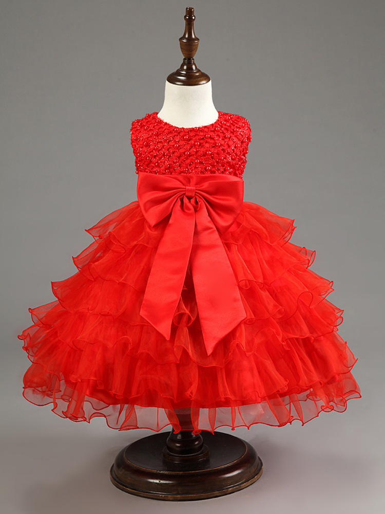 553c4803efa3 Summer Holiday Kids Dresses For Girls 2018 Princess Wedding Party Dress  Baby Girl Clothes 1 Year ...