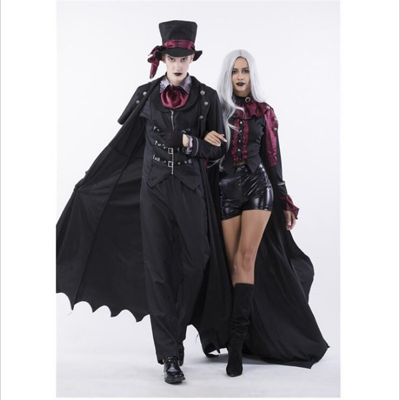 Halloween Earl Cosplay Lovers Costumes Male and Female Role playing Movies Adult Vampire Costumes Free Shipping