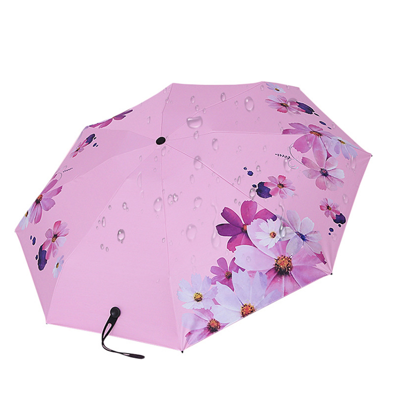 MUERHUA Portable Flower Umbrella Rain Women Waterproof 5 Folding Ultra Light Pocket Umbrellas UV Mini Female Sun Parasol in Umbrellas from Home Garden