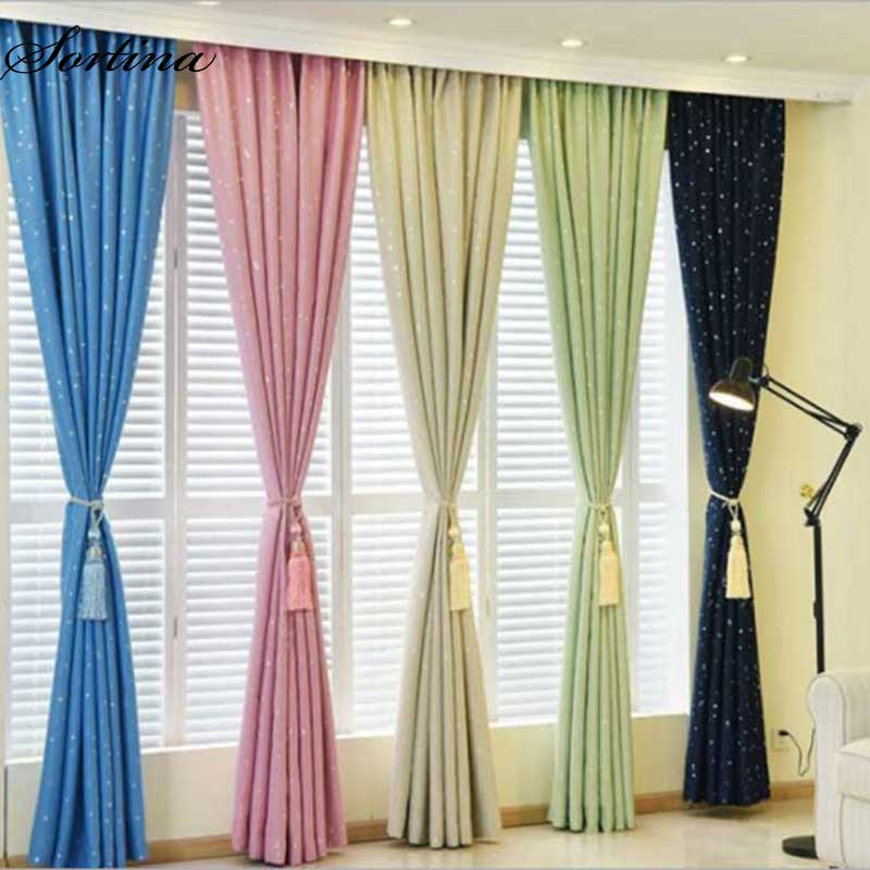 Bedroom Sliding Door Curtains Bedroom Athletics Uk Wooden Bedroom Bench Blue And Yellow Bedroom Ideas: Sortina 5 Colors Thiching Blackout Star Print Curtains For
