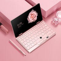 New Onemix 2s pink cat laptop 7 MINI notebook RAM 8GB ROM 256GB Windows 10 business Office Computer Pocket PDA Stylus free ship