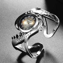 Nowy projekt kobiet bransoletka zegarek kwarcowy kryształ luksus relojes Rhinestone mody kobiet zegarki gorąca sprzedaż eleagnt mujer zegarek tanie tanio Papieru Z CANSNOW Okrągłe Brak Stal nierdzewna 7 7mm Fashion Casual 16 5 cm 25mm No waterproof Wstrząsy Cansnow1140 zegarek