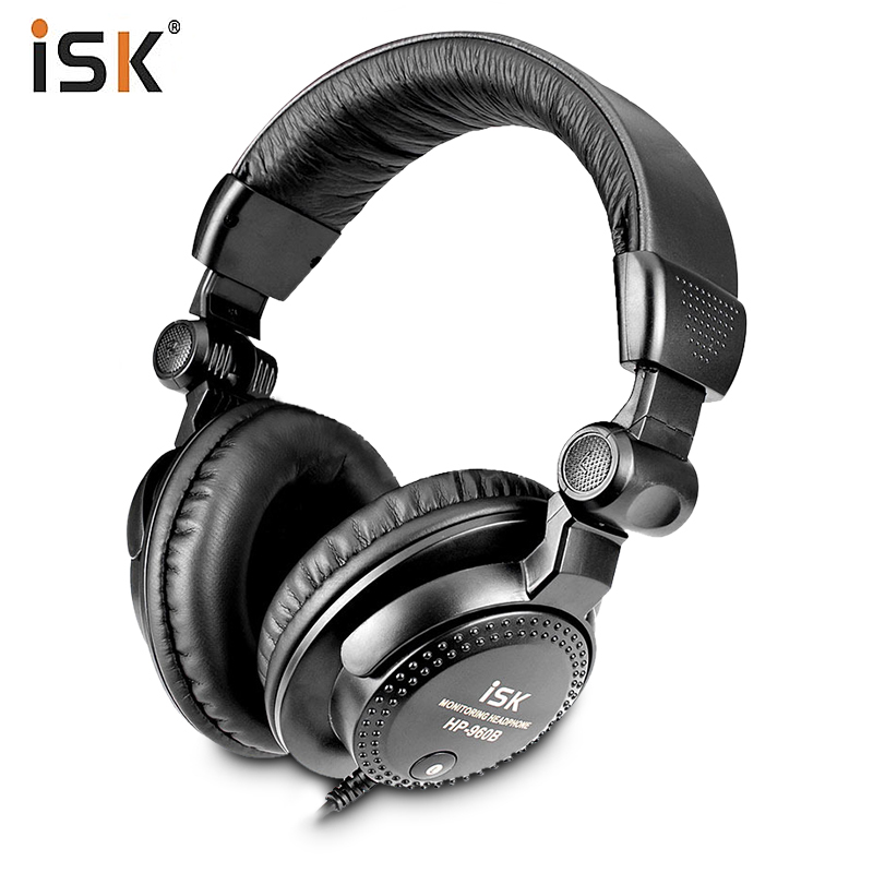New ISK HP-960B Headband Headphone Auriculares Studio Monitor Dynamic Stereo DJ Headphones HD Headset Noise Isolating Earphone oneodio professional studio headphones dj stereo headphones studio monitor gaming headset 3 5mm 6 3mm cable for xiaomi phones pc