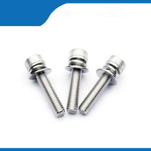 Good Quality 304 Stainless Steel M3 Hex Socket Screws Bolt With Hex Nuts Washer Assortment Kit Hardware Accessories