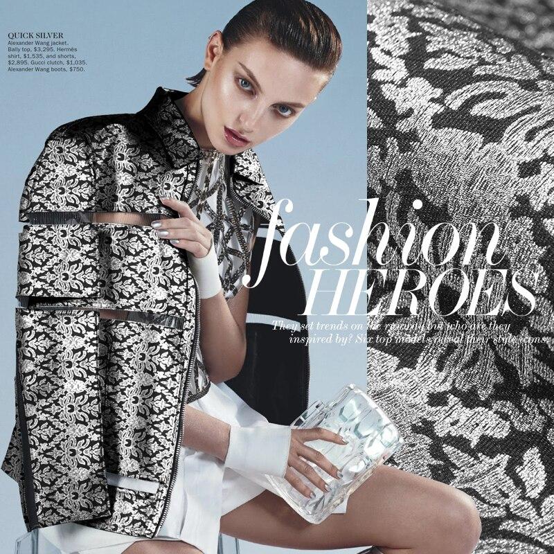 Marque exclusive de tissu de robe de tissu de brocart de jacquard de vent de mode de dames à la mode