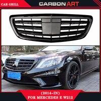 2014 Mercedes s класса W222 S63 AMG Дизайн глянцевый черный abs замена автомобилей спереди гриль сетки авто гриль