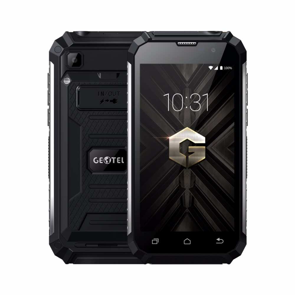 Geotel G1 Mobile Phone 7500mAh Big Battery 5.0 Inch HD <font><b>MTK6580A</b></font> Quad Core Android 7.0 2GB RAM 16GB ROM 8MP Power Bank Smartphone image