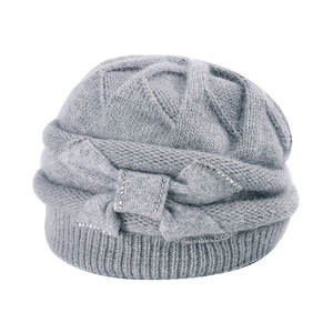 Image 5 - Charles เพอร่าผู้หญิงถักหมวกฤดูหนาว Thicken Double Layer Elegant Casual กระต่าย Hair Blend หมวกผู้หญิงหญิง Beanies D304
