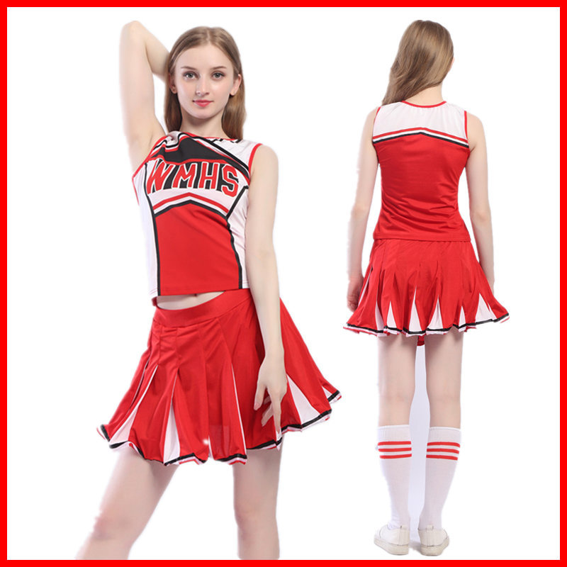 Titivate Sexy High School Cheerleader Costume Girl Baseball Dance Cheer Girls Race Car Driver Uniform Party Wear New Varieties Are Introduced One After Another Costumes & Accessories
