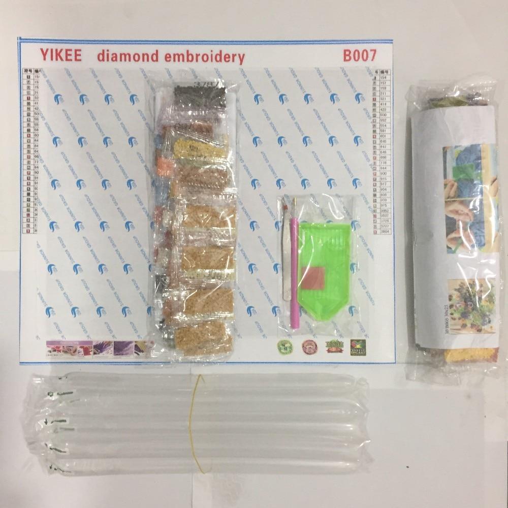 YIKEE A6123 төртбұрышты алмаз кесте, ақ - Өнер, қолөнер және тігін - фото 2