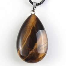 Trendy beads Summer Style Silver Plated Natural Tiger Eye Stone Water Drop