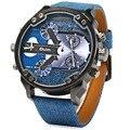 Luxo marca oulm militar relógios homens de quartzo analógico couro relógio homem esportes relógios relógio do exército relogios masculino
