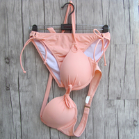 Mujeres Maillot de bain Bikini Naranja biqini UNDERWIRE trajes de Baño Sexy Cintura Baja Diseños Secret bikinis Trajes de Baño