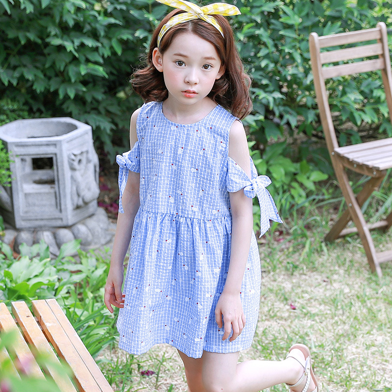 Teen Girls Dress Fashion Off Shoulder Striped Summer Kids Girls Princess Party Dress 6 7 8 9 10 11 12 13 14 15 years old 2016 summer teen girls boutique frock designs latest fashion dress for kids age 5 6 7 8 9 10 11 12 13 14t years old kids clothes