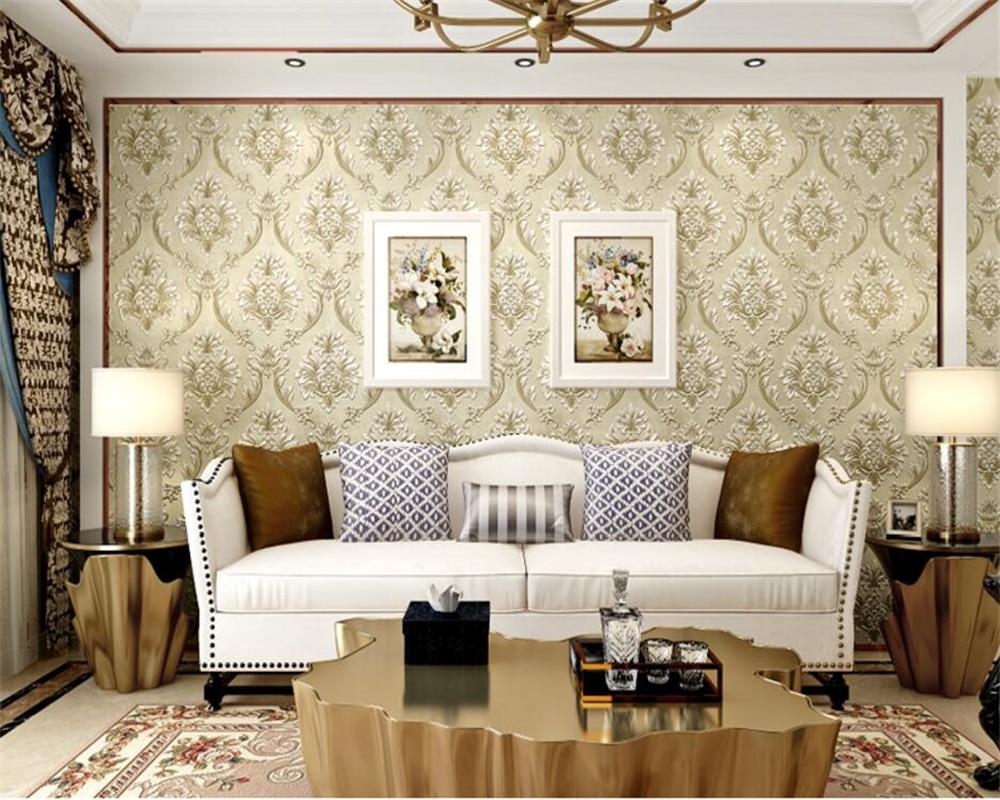 Beibehang Europese slaapkamer behang diep reliëf 3d prachtige ...