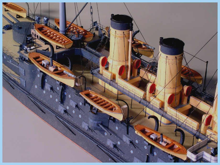 DIY 3D skala modelu papieru 1:250 wojskowy model statku car rosja Navy Oslabya okręt wojenny rękodzieło zabawka statek Papercraft
