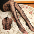 2017 Sexy Summer  Femininas Women's Lace Tattoo  Sheer High Stockings Hollow Fishnet Pantyhose Slim  Tights Gifts