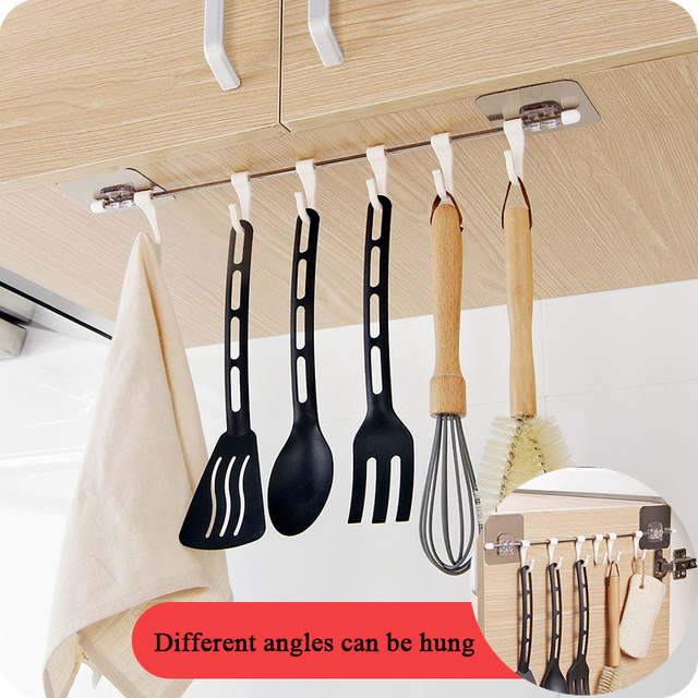 Kitchen Plastic Holder with Hooks