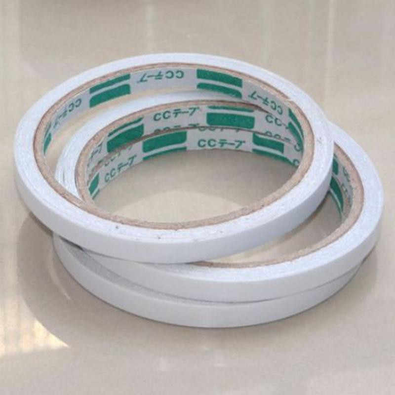 new 8mm double sided adhesive tape 5 Rolls White Super Strong Adhesive Tape Adhesive Pad For Mounting Fixing Pad Sticky