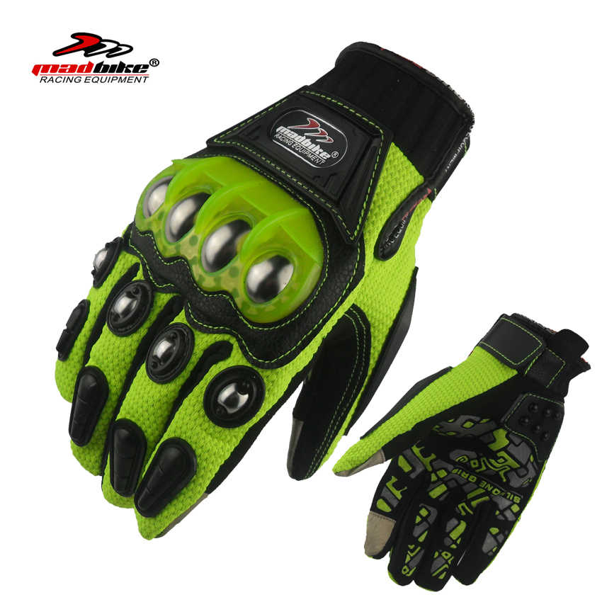 Madbikeオートバイ手袋タッチスクリーンgants motoレーシンググローブ用オートバイバイクguantesデmotociclista luvaモトクロス