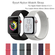 Sport Nylon Watch Strap For Apple Watch Series 4 3 2 1 Bracelet Band For iwatch 44mm 40mm 38mm 42mm Soft Breathable Watchband woven nylon for apple watch band 4 44mm 40mm sport loop watchband iwatch series 4 3 2 1 42mm 38mm bracelet breathable wrist belt