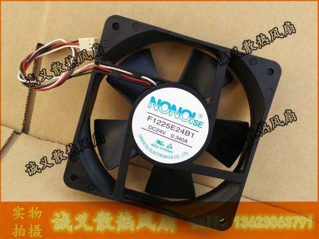 Nonoise F1225e24b1 24v 0 34a 12cm 12025 120x120x25mm Three Wire Converter Cooling Fan Free Shipping