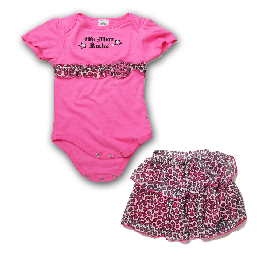 2017 Short sleeves Baby Romper for Girls Cotton Newborn Baby Clothes Leopard Infant Dress Toddler Jumpsuit Dress Suit for 0-24M baby romper sets for girls newborn infant bebe clothes toddler children clothes cotton girls jumpsuit clothes suit for 3 24m