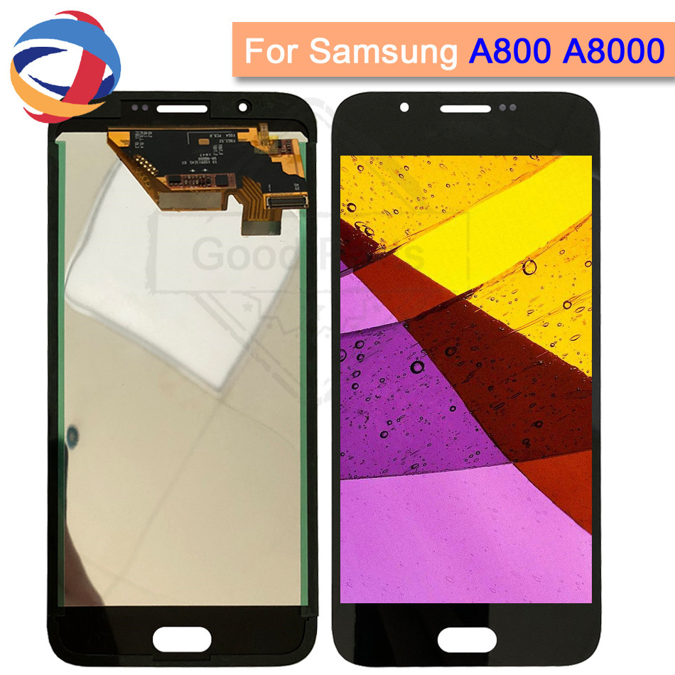 100% tested lcd Screen for Samsung Galaxy A8 A800 LCD Display Touch Digitizer A800F A8000 lcd Assembly Replacement 1920*1080