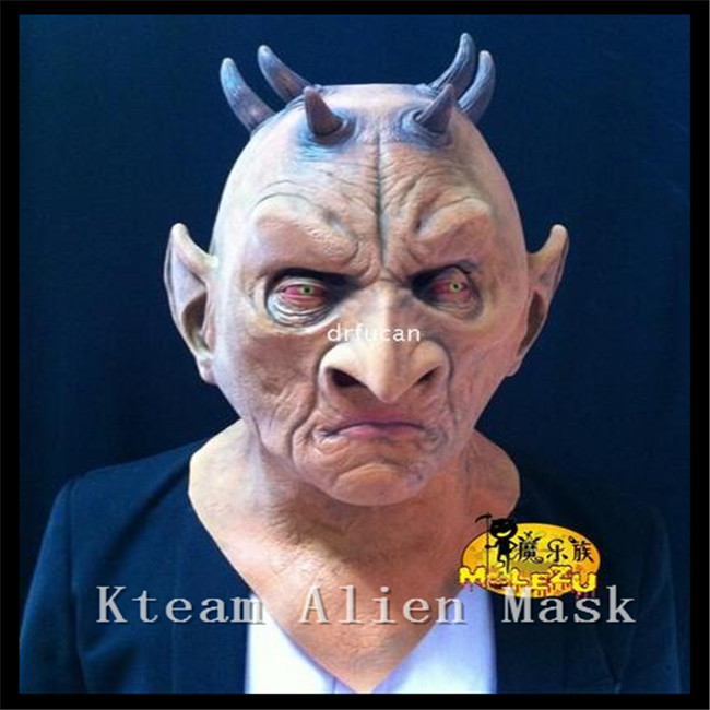 100% Latex Scary Six Horned Monster Mask,Devil Latex Mask for Halloween,The Masquerade Party Silicone Rubber Birthday Face Masks