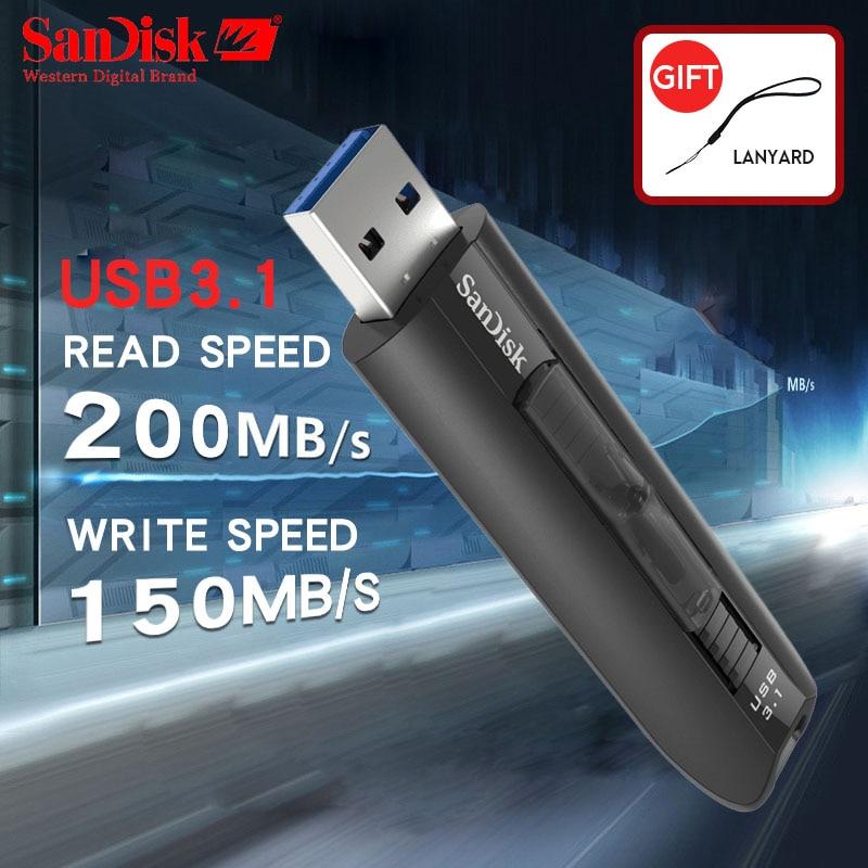 SanDisk 64GB Extreme USB 3.1 200MB//S memory Thumb Flash Pen Drive  SDCZ800-64G