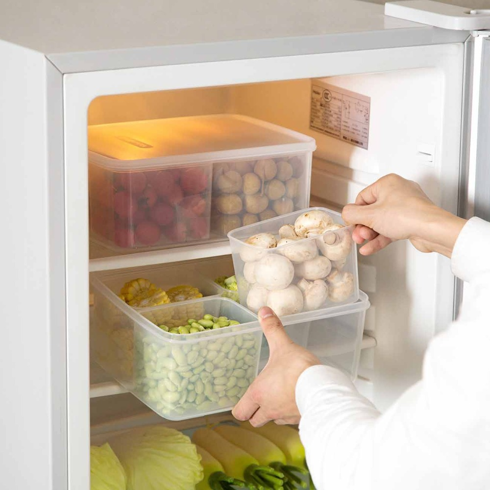 Transparent Kitchen Container Set for Storage of Food inside Refrigerator to Keep Food Fresh
