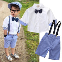Baby Boy Clothes Spring Gentleman Suit 2019 New Kids Cotton Cute Sets Baby Boy Outfit Costumes Baby Clothing Set For 2 7Years