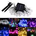 Origlam Solar Garden Lamp Series 30 LED Bubble Beads Outdoor Christmas String Light