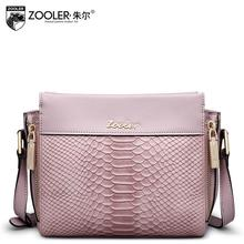 2016 New zooler genuine leather women bag brand fashion quality cowhide serpentine women leather shoulder messenger small bag