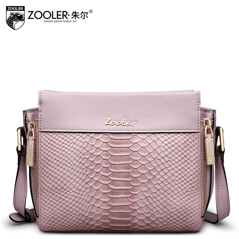ФОТО 2017 New zooler genuine leather women bag brand fashion quality cowhide serpentine women leather shoulder messenger small bag