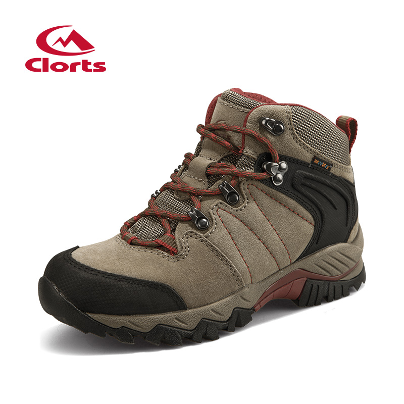 Clorts Womens Hiking Boots zapatillas deportivas mujer Outdoor Mountain Climbing Sports Shoes Suede Leather For Women HKM-822C clorts new hiking boots for women breathable mountain boots waterproof climbing outdoor shoes hkm 823b e f