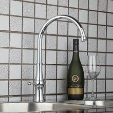 Ouboni для кухни torneira горячий/холодный Поворотный Chrome 92282 умывальник водопроводной воды судно туалете краны, смесители и краны