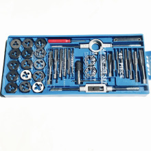 Lux 40pcs/set tap and die set M3~M12 Screw Thread Metric Plugs Taps & Tap wrench & Die wrench, hand screw taps Hand Threading цены онлайн