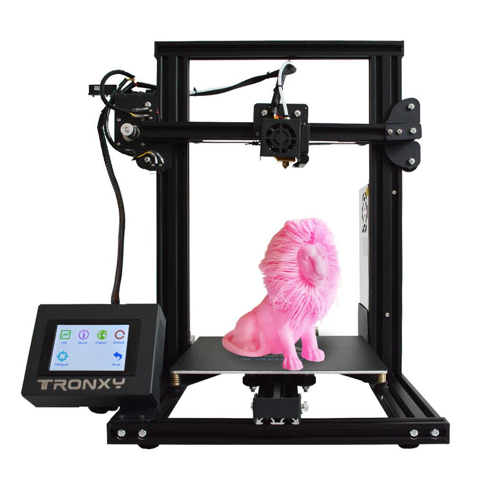 Tronxy Novo XY-2 3D impressora de Grande Tamanho de Impressão FDM impressora i3 V-slot Tela de Toque Continuação Viveiro de Impressão 1.75mm PLA