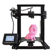 Tronxy Новый XY-2 3D принтер большой размер печати FDM i3 принтер v-слот сенсорный экран продолжение печати Hotbed 1,75 мм PLA