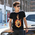 Men t-shirt Cotton Plus Size Tee Shirt Homme Summer Short Sleeve Men's T Shirts Male TShirts Camiseta 3D T shirt Printed Guitar