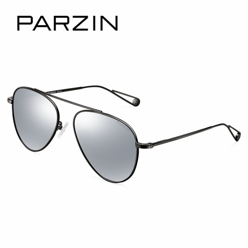 PARZIN Cool Ladies Polarized Aviator Sunglasses Classic Brand Design Alloy Frame Frog font b Pilot b
