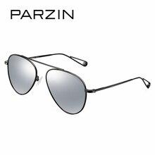 PARZIN Cool Ladies Polarized Aviator Sunglasses Classic Brand Design Alloy Frame Frog Pilot Sunglasses With Logo Box Eyewear New