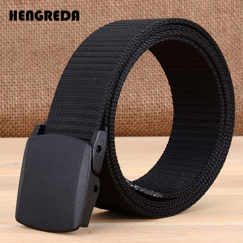 High Strength Plastic Buckle Fashion Tactical Belt Men