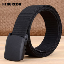 Military Men Belt 2018 Army Belts Adjustable Belt Men Outdoor Travel Tactical Waist Belt with Plastic Buckle for Pants 120cm(China)