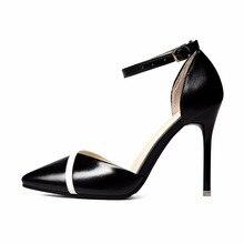 2ca0ff864 2018 novos das mulheres sapatos de salto alto versão Coreana do Baotou oco  sexy stiletto sandálias