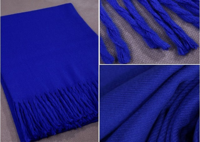 Sale New Winter Blue Chinese Women's Cashmere Shawl Scarf New Thick Warm Wrap 019
