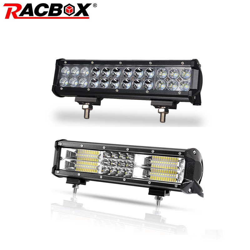 12 inch 3D 5D 72W Offroad LED Light Bar Tri row Double Row Work Light for 4x4 UAZ SUV ATV 4WD Truck Automobile 12 24V Combo Beam