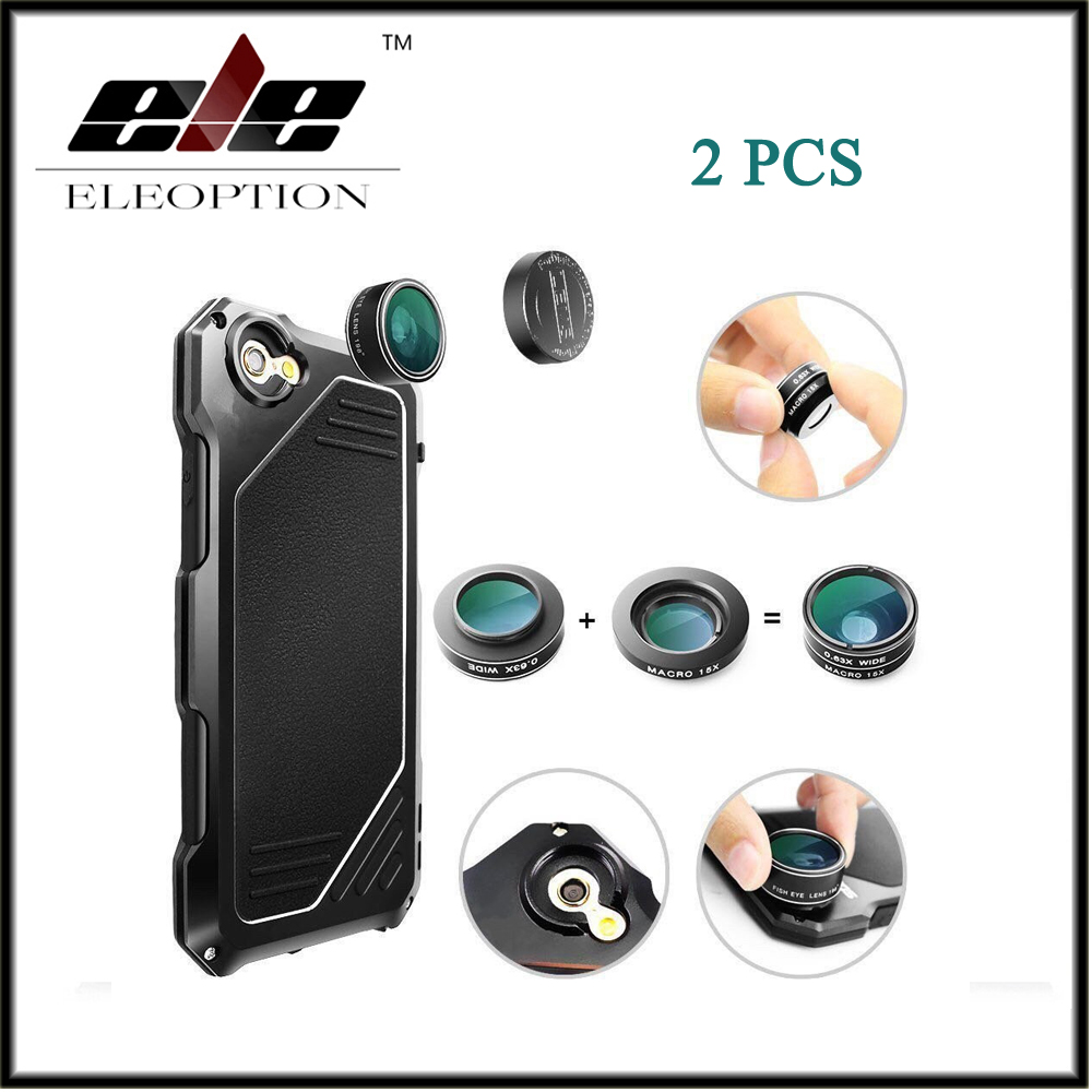 2 PCS For iphone 7 Case Metal Aluminum Waterproof Dirt Shockproof Phone Cover For Iphone 7 4.7inch 3 in 1 With micro lens