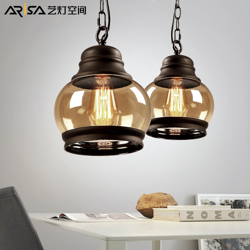 Retro dining lighting lamps fixtures bar room living suspended Pendant Novelty in Pendant US100 20OFF Cafe iron Hanging room LED 0 Lights Nordic eWdCBQxro